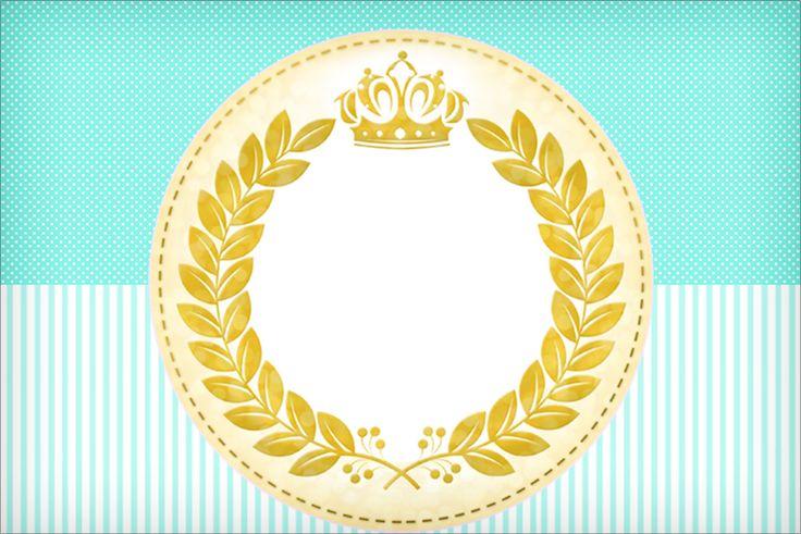 Veja esse lindo kit Coroa de Príncipe em verde para você usar na sua festa infantil ou Chá de Bebê e arrasar na decoração e personalizados da festa