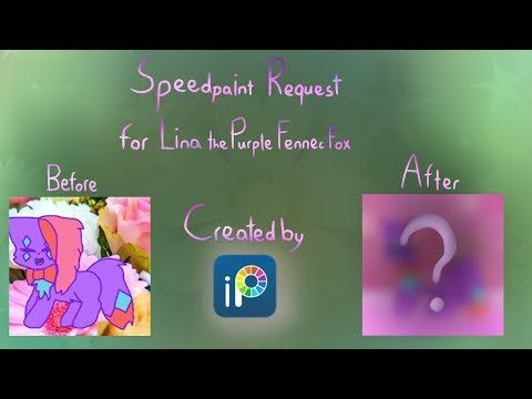 Speedpaint Request - For Lina the Purple Fennec Fox - Redraw - YouTube
