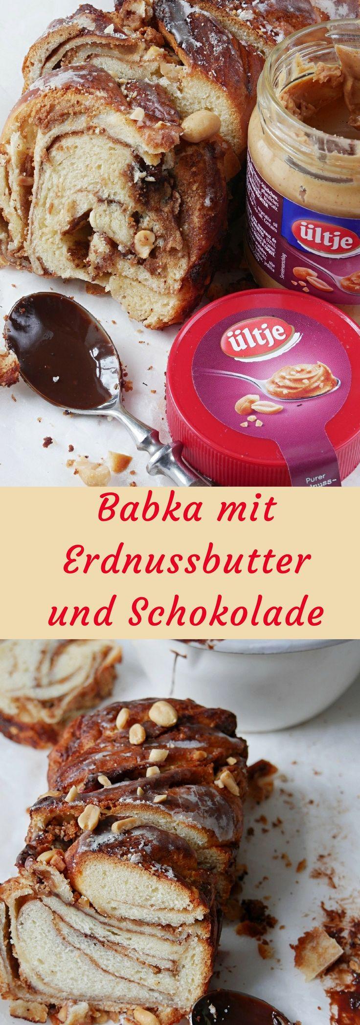Weicher, fluffiger, süßer Hefeteig, immer wieder von Erdnussbutter und Schokolade durchzogen. Nichts anderes haben wir heute für euch und die Schönheit hört auf den Namen Babka