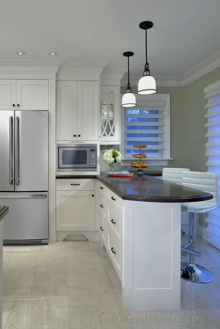 small kitchen renovation - love the up to the ceiling cabinets