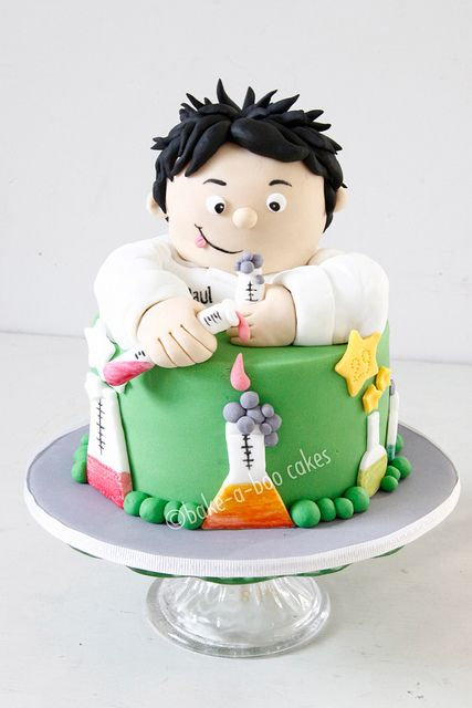 Mad scientist theme cake by Bake-a-boo Cakes NZ, via Flickr