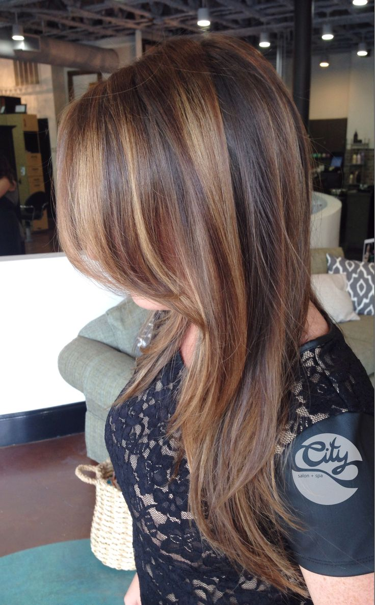 Young-Shaved-Brunette-Gerri-with-Brown-Eyes Balayage Brunette by Olive at City Salon and Spa of Athens, GA.