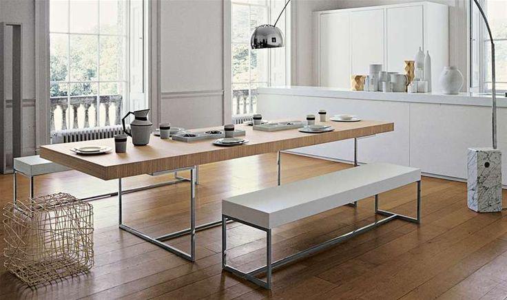 Table athos collection b italia design paolo piva for B b design roma