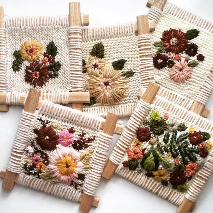 Knitted and Embroidered Tapestries Look Like a Cozy Sweater Feels                                                                                                                                                                                 More