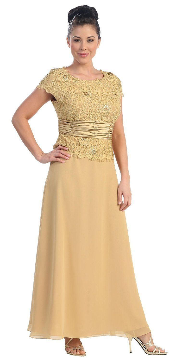 Conservative Formal Mothers Gown Mq571 At Amazon Women S Clothing Store Dresses Plus Size Gowns Formal Bride Dress Bride Clothes [ 1500 x 728 Pixel ]