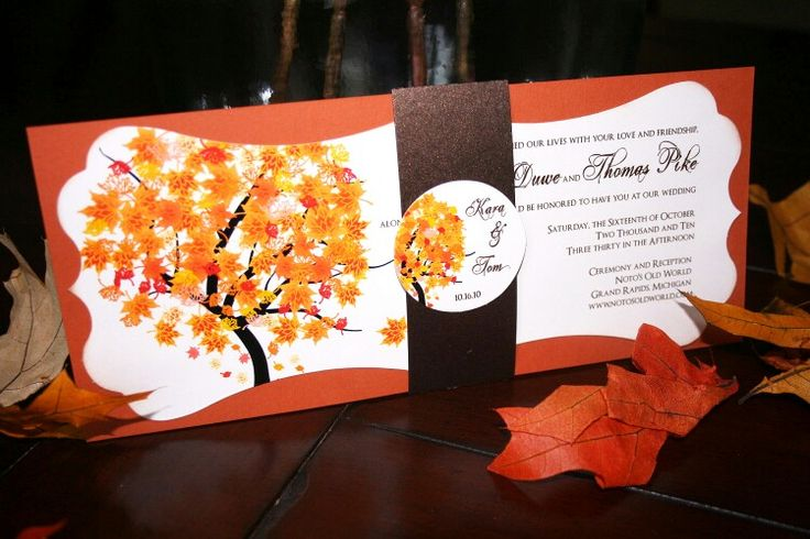 Fall in love invitations