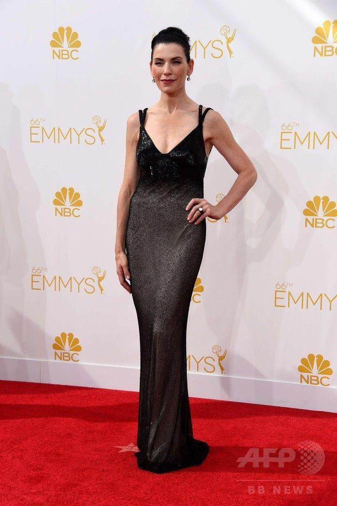 第66回プライムタイム・エミー賞(Primetime Emmy Awards)のレッドカーペットに登場した女優ジュリアナ・マルグリーズ(Julianna Margulies、2014年8月25日撮影)。(c)AFP/Getty Images/Frazer Harrison ▼26Aug2014AFP|【写真】第66回エミー賞のレッドカーペット http://www.afpbb.com/articles/-/3024084