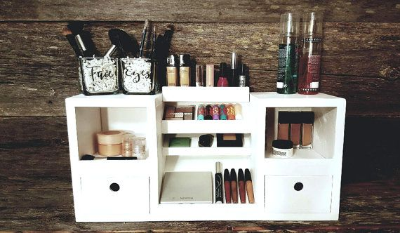 Tisch-Organizer Top Make-up Make-up-Eitelkeit von HighlandDesignCo