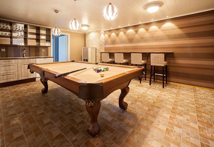 When it is raining outside, you can always play billiard.  #cottage #Estelle #billiard #Finland #accommodation