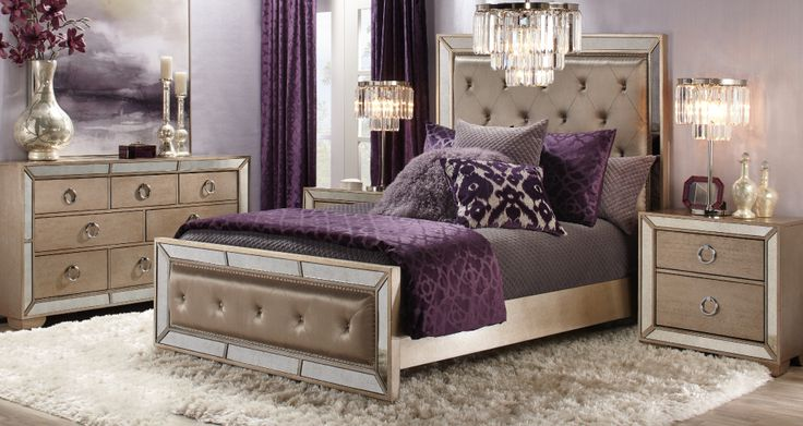 Inspired by this Ava Aubergine Bedroom Inspiration look on @ZGallerie