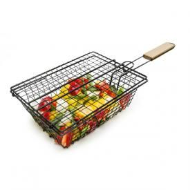 This flip grill basket makes cooking veggies on the BBQ easy.