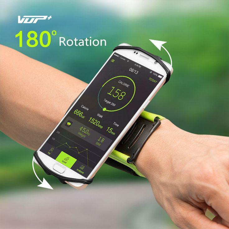 VUP 180° Rotation Sport Running Cycling Adjustable Wrist Band Bag For 4-6 Inches Smartphone Sale - Banggood.com