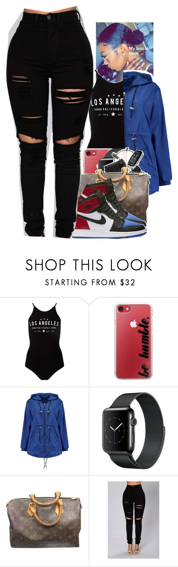 """""""Untitled #2081"""" by txoni ❤ liked on Polyvore featuring Miss Selfridge, Casetify, Boohoo, Louis Vuitton and NIKE"""