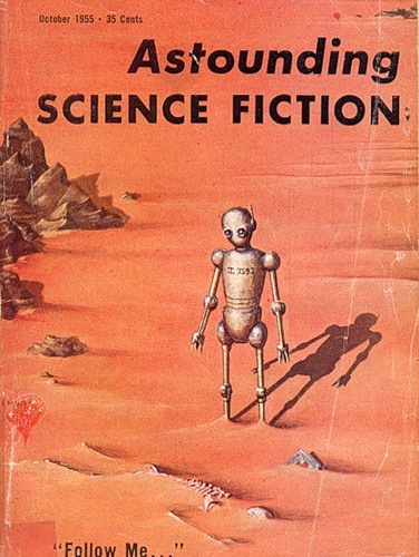 Astounding Science Fiction Cover with a Robot