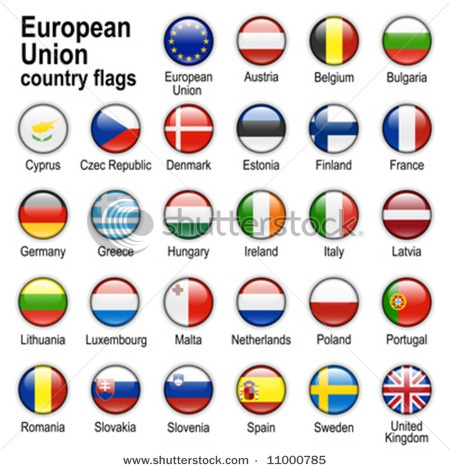 Flags of countries - members of European Union