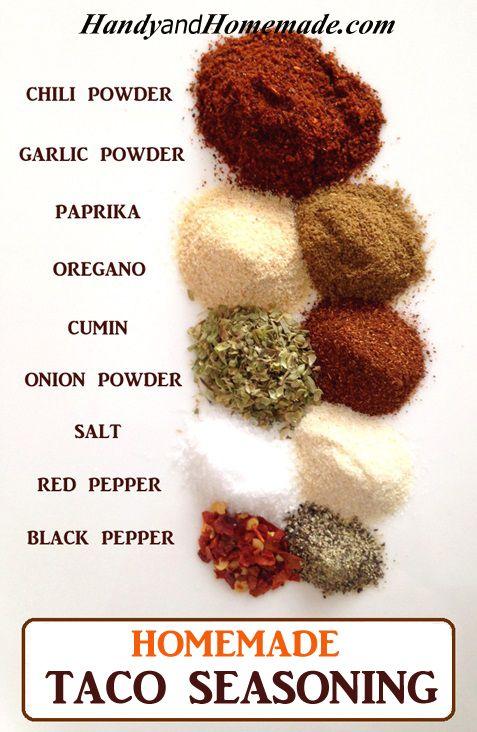 DIY Homemade Taco Seasoning Recipe #coupon code nicesup123 gets 25% off at  Provestra.com Skinception.com: