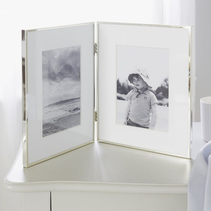 """Fine Silver Hinged Photo Frame 4 x 6"""" 