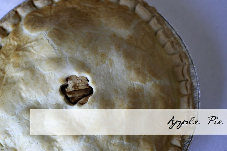 Apple Pie made with local apples and our famous butter crust.