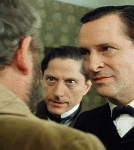 """hemlock-in-the-cocktails: """" """"A very intense Inspector Lestrade moment """" """" The Norwood Builder (1985) The Adventures of Sherlock Holmes (Season 2, Episode 3) """" """""""