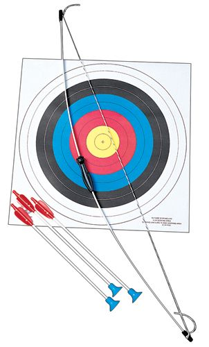 Child's Archery  Bow and Arrow Set-  This is perfect for a camping party. Buy some child sized wood arrows, too.  #archery, #camping