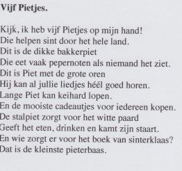 Gedicht '5 pietjes'