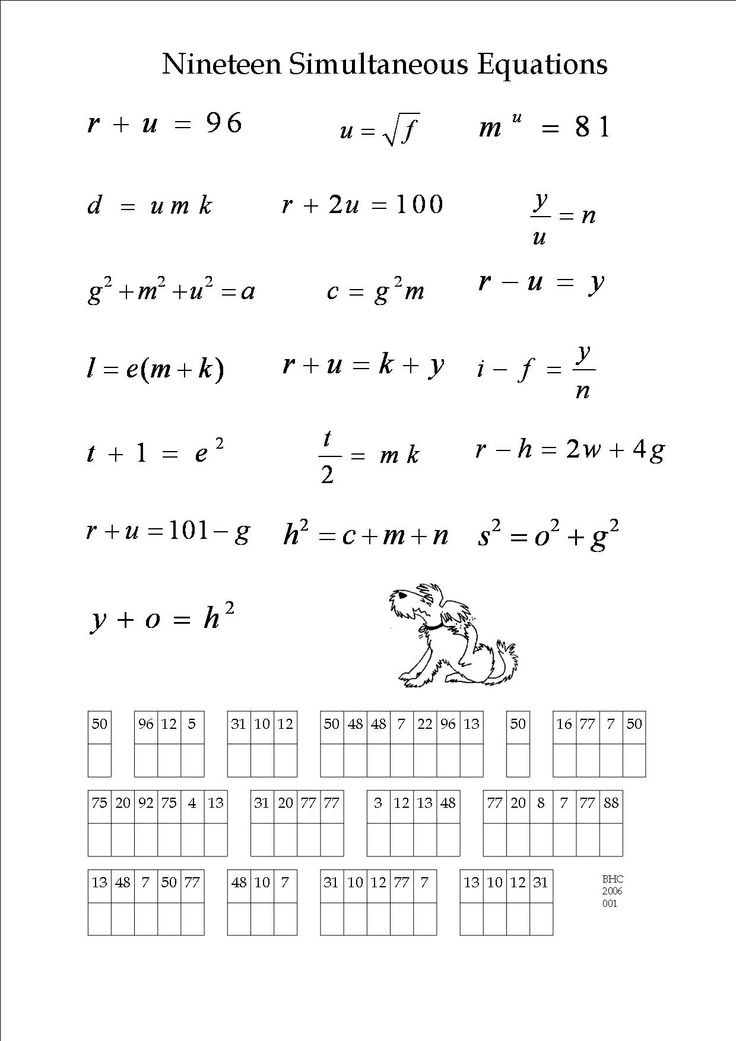 Algebra puzzles worksheets