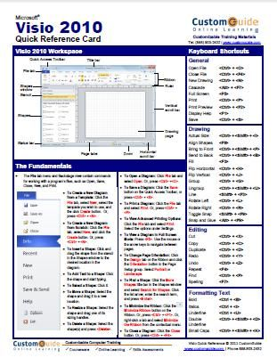 Microsoft Visio 2010 - Free Quick Reference Card                                                                                                                                                                                 More