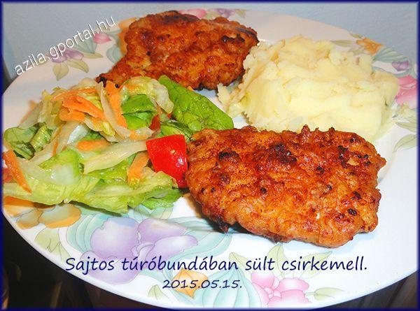 Sajtos túróbundában sült csirkemell - Aliz konyhája - minden recepthez fázisfotók