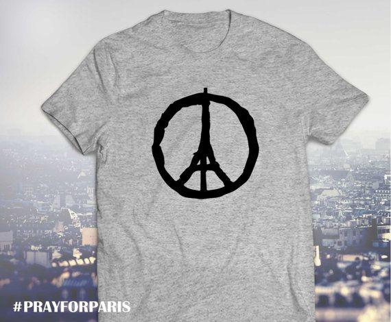 Pray for Paris shirt, Eiffel Tower peace, Pray for Paris, Paris peace shirt, porte ouverte, UNISEX model