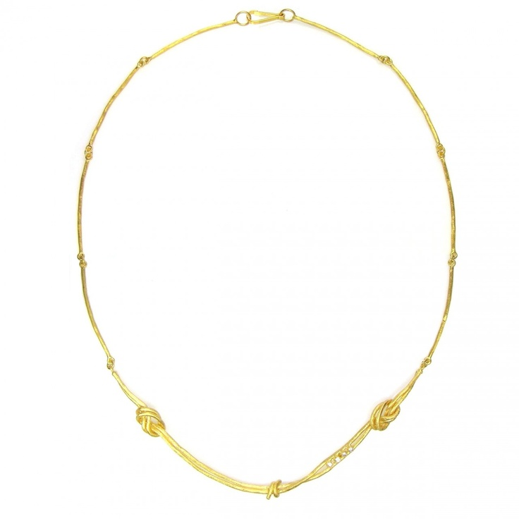 Necklace burl Gold 18k