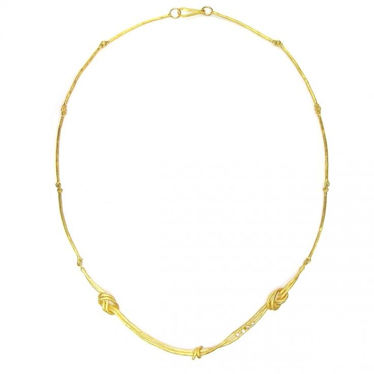 Necklace burl Gold 18k