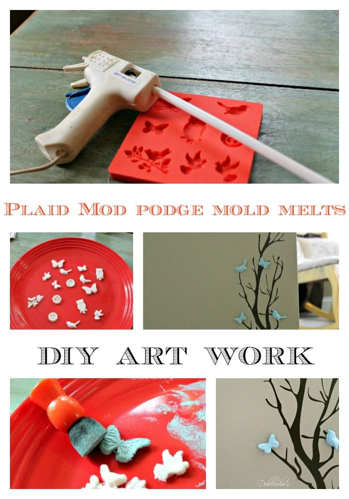 mod podge mold melts diy art work and 30 + more diy projects you can do with mod podge melts. @Plaid Crafts