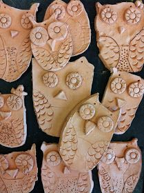 Clay Owls, can't wait to start these with 1st grade when I get back!! So much fun!