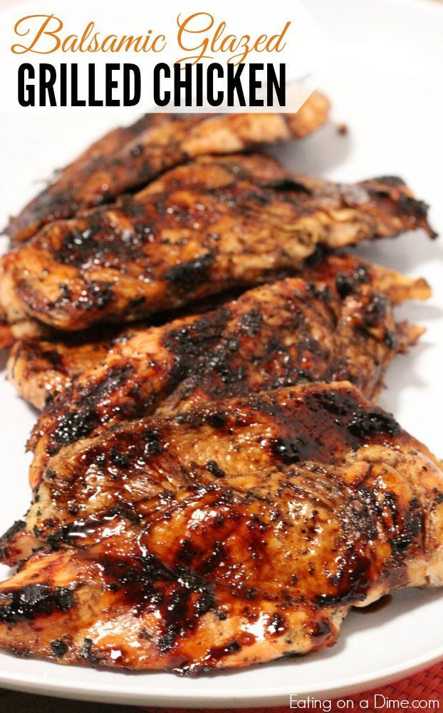 Balsamic Glazed Grilled Chicken recipe.  You don't have to sacrifice flavor for a quick dinner and this Balsamic glazed chicken does exactly that. No marinating. No waiting. Dinner ready in 20 minutes.
