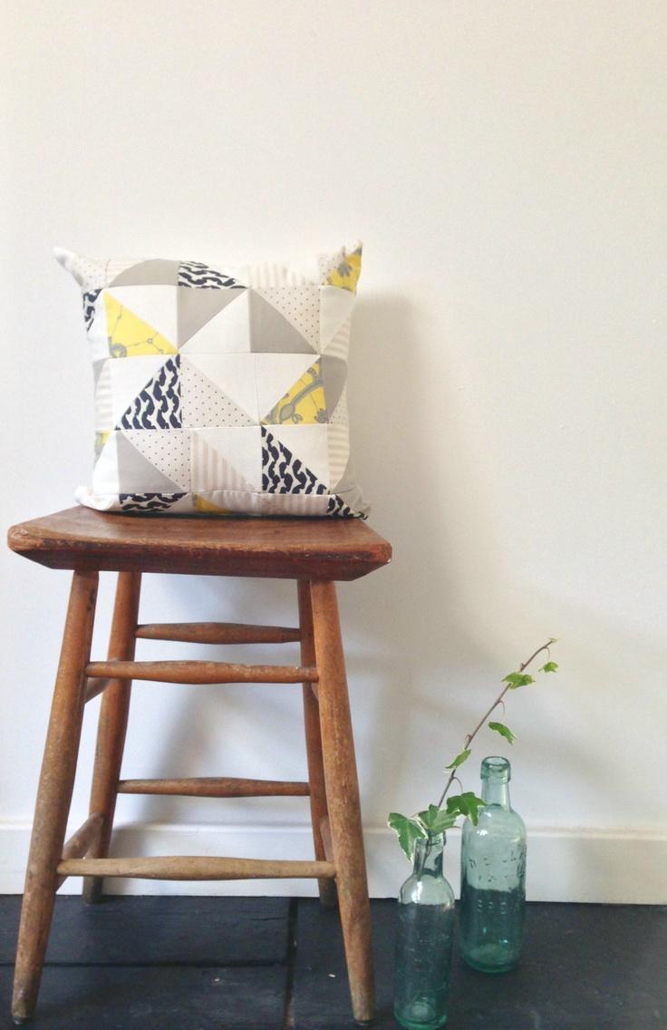 Geometric Patchwork Cushion