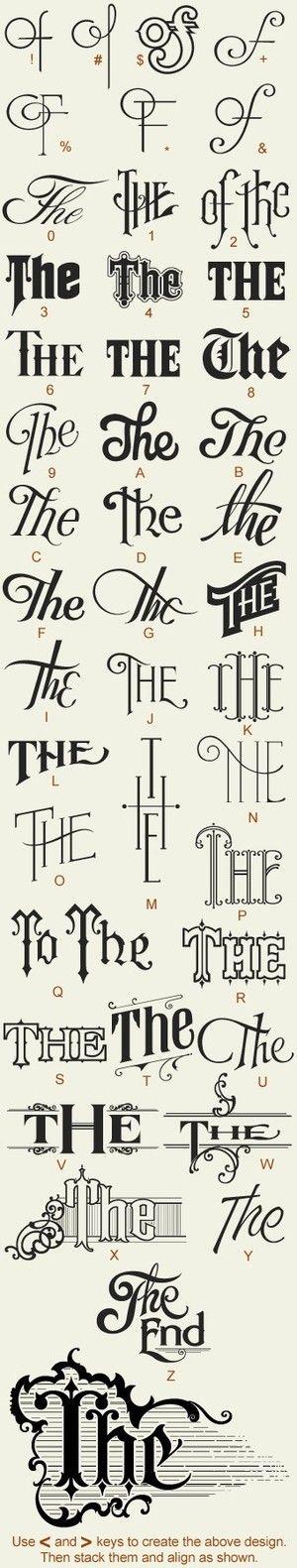 D / Great Fonts