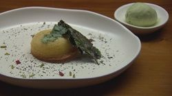 Coriander Ice Cream and Lime Syrup Cake