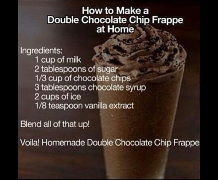 Heavenly chocolate chip frappe