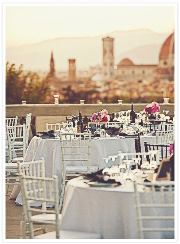 Wedding tables decor in Florence