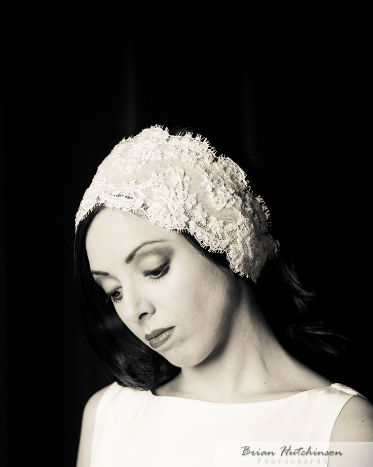 Elegant Chantilly Lace Headband #bridal hair accessory