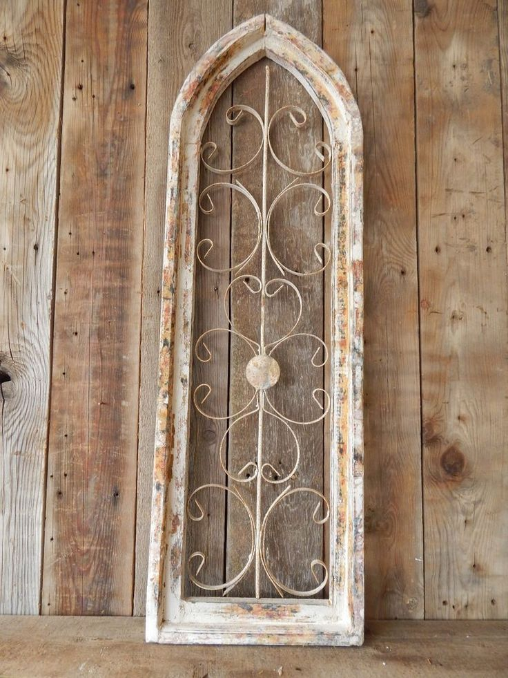 Shabby Chic Shop 36in Tall X 11.5in Wide Antique Style Wood & Metal Window