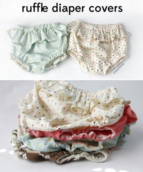 Belly + baby // ruffle diaper covers pattern + tutorial - Top 28 Most Adorable DIY Baby Projects Of All Time