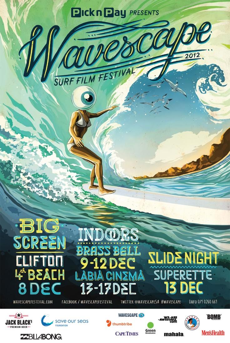 Das jährliche Wavescape surf film festival ist eines der bekanntesten Festivals in Kapstadt für Surfer aus ganz Südafrika.