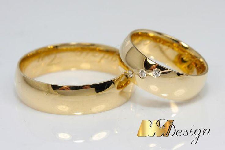 Klasyczne obrączki ślubne Rzeszów złotnik Rzeszów Jubiler Rzeszów Obrączki z diamentami na zamówienie. #bm #zlotnik #diament #