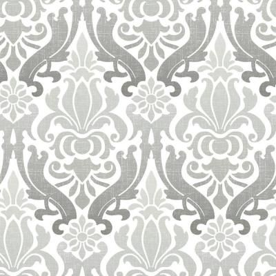 WallPOPs 30.75 sq. ft. Grey Nouveau Damask Peel and Stick Wallpaper-NU1827 - The Home Depot