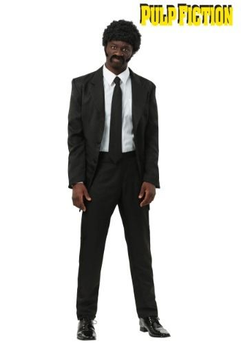 Enjoy a Royale with Cheese in this Pulp Fiction Halloween costume. This suit is officially licensed and ready for you to make a splash at your holiday party, looking like John Travolta or Samuel L. Jackson.