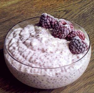 hindbærchiagrød