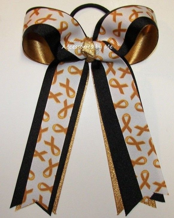Childhood Cancer Yellow Gold Ribbon Ponytail Holder Lemonade Stand Accessories #AccessoriesbyMe