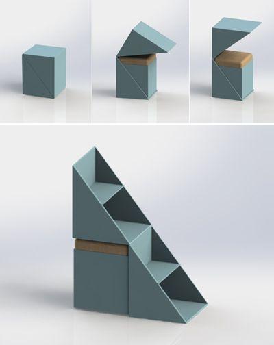 DU KU BU, Multifunctional Children Oriented Furniture Can Be Used As A  Seat, Storage