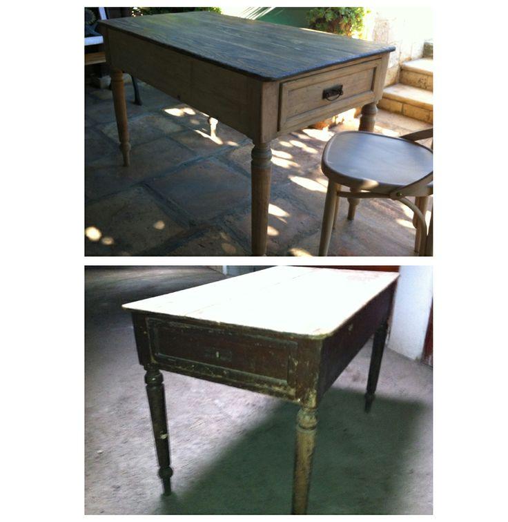 Restauro tavolo primi 900